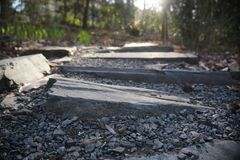 Graveled pathway stock photos