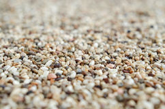 Gravels background, colorful sand close up. Gravels background, colorful sand close up, selective focus Stock Image