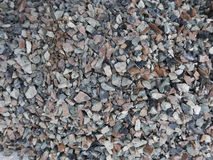 Gravels. Black, grey, white and pink gravels Royalty Free Stock Photography