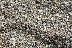 Gravels. A part of a walkway made of gravels Royalty Free Stock Images