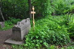 Graven av Borisov-Musatov i Tarusa, Ryssland Arkivfoto