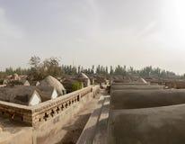 Graven bij het Mausoleum van Apak Khoja, Kashgar, China stock afbeeldingen