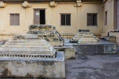Graven bij Jamia Masjid-moskee, Mysore, India royalty-vrije stock afbeeldingen