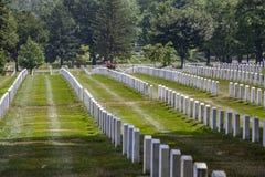 Graven bij nationale Begraafplaats Arlington in Washington stock afbeelding