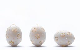 Graven Easter eggs. Stock Images