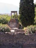 Graven in het Necropool in Pompei Royalty-vrije Stock Foto's