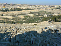 Graven in Jeruzalem stock afbeelding