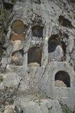 Graven in Steen, Sagalossos, antic stad Stock Fotografie