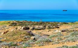 Graven van de Koningen, een oud necropool in Paphos stock fotografie