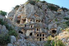 Graven van de oude stad van Myra royalty-vrije stock foto