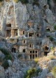 Graven van de oude stad van Myra stock afbeelding
