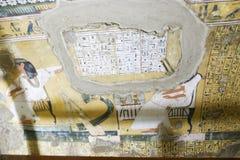 Graven van koningen en Nabala in Luxor stock afbeeldingen