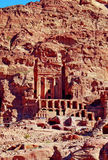 Graven van Petra, JORDANIË royalty-vrije stock fotografie