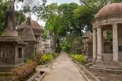 Graven van South Park-Straatbegraafplaats in Kolkata royalty-vrije stock foto's