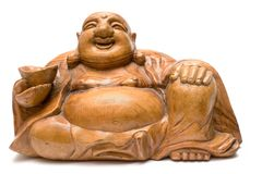 Graven Wooden Buddha Royalty Free Stock Photos