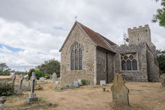 Graveney Church near Faversham, UK. An old stone old church with a small graveyard Royalty Free Stock Photo
