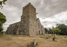 Graveney Church. An old stone church with a graveyard in UK Royalty Free Stock Images