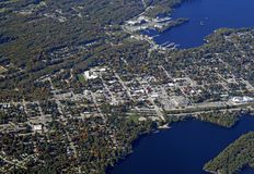 Gravenhurst Ontario, aéreo Imagen de archivo