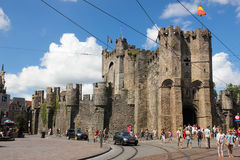 Gravensteen Castello dei conteggi gand belgium immagini stock