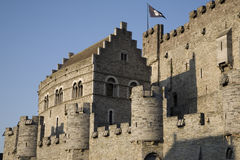 Gravensteen Castle. Medieval Gravensteen Castle in Ghent, Belgium, Europe Stock Photos