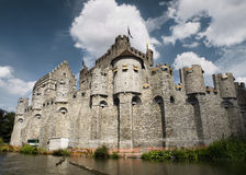 Gravensteen Castle. The residence of the Counts of Flanders in the Middle Ages Stock Images