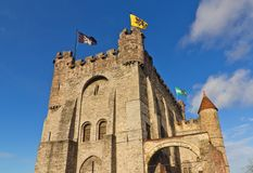 Gravensteen castle (circa 1180). Ghent, Belgium Stock Photography