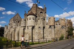 Gravensteen. Castle of the Counts. Ghent. Belgium Royalty Free Stock Images