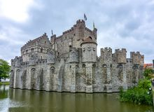 Gravensteen Castle, Gent, Βέλγιο στοκ εικόνα