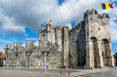 Gravensteen Castle, Gent. Gravensteen is a castle in Gent, Ghent built in 1180 Middle Ages, bought in 1185 by city Stock Photography