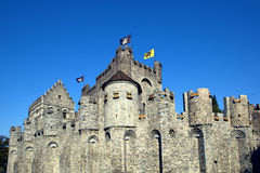 Gravensteen Castle in Ghent. Belgium on a sunny day Royalty Free Stock Image