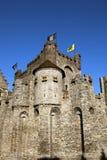 Gravensteen Castle in Ghent Belgium. Detail of Gravensteen Castle in Ghent Stock Images