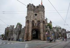 Gravensteen castle stock photo