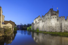 Gravensteen castle, Ghent, Belgium Royalty Free Stock Photos