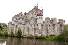The Gravensteen castle in Ghent, Belgium Royalty Free Stock Photography