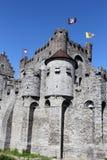Gravensteen Castle in Ghent, Belgium Stock Photography