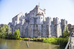 Gravensteen castle in Ghent. Ghent, a charming town in Belgium Royalty Free Stock Image