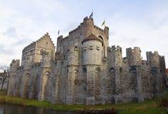 Gravensteen castle. Ghent, East Flanders, Belgium Royalty Free Stock Images