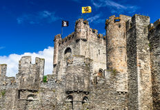 Gravensteen Castle and Lieve River, Gent Royalty Free Stock Images