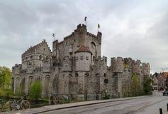 Gravensteen, Gent, België stock foto's
