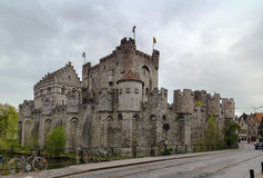 Gravensteen, Ghent, Belgium. The Gravensteen is a castle in Ghent originating from the Middle Ages. Belgium Stock Photos