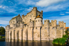 Gravensteen in Ghent, Belgium. On a sunny day royalty free stock image