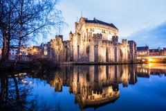 Gravensteen from Ghent. In Ghent there is an gavensteen from the Middle Ages Stock Photos