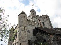 Gravensteen slott - Ghent, Belgien Arkivbild
