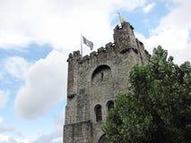 Gravensteen slott - Ghent, Belgien Royaltyfri Bild
