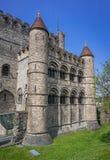 Gravensteenkasteel in Gent, België Royalty-vrije Stock Foto