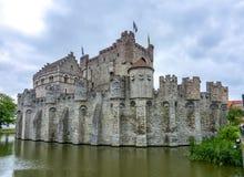 Gravensteenkasteel, Mijnheer, België stock afbeelding