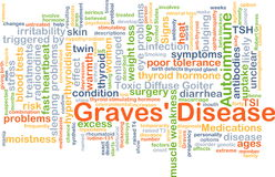 Graves' disease background concept Royalty Free Stock Images