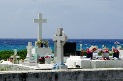 Graves along the sea Royalty Free Stock Image