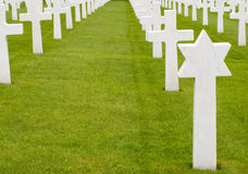 Graves of American soldiers Stock Photos