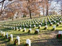 Graves in the Arlington Cemetery Royalty Free Stock Photos